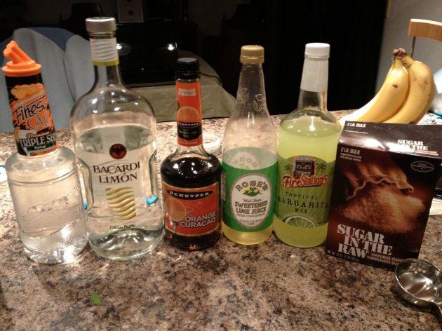 The liquids that make up our Mojito Recipe