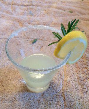 Rosemary Lemon Drop Martini