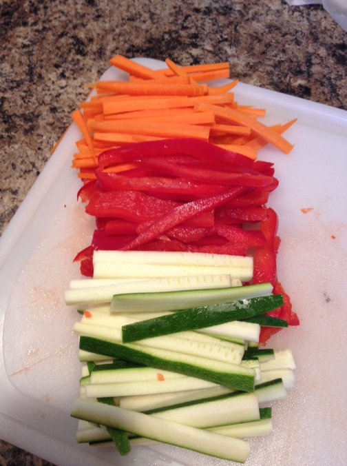 Veggies Sliced and Ready to go