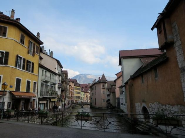 Little town at the foot of the Alps