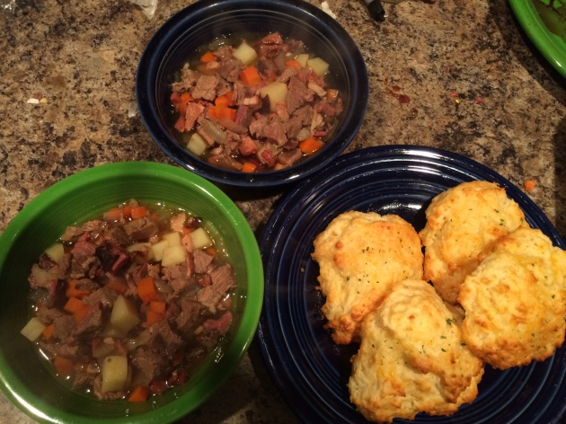 Yummy Lamb Stew and Cheddar Biscuits