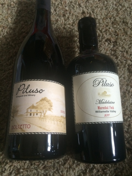 The two bottles (and it was hard to pick) that I bought from Piluso.