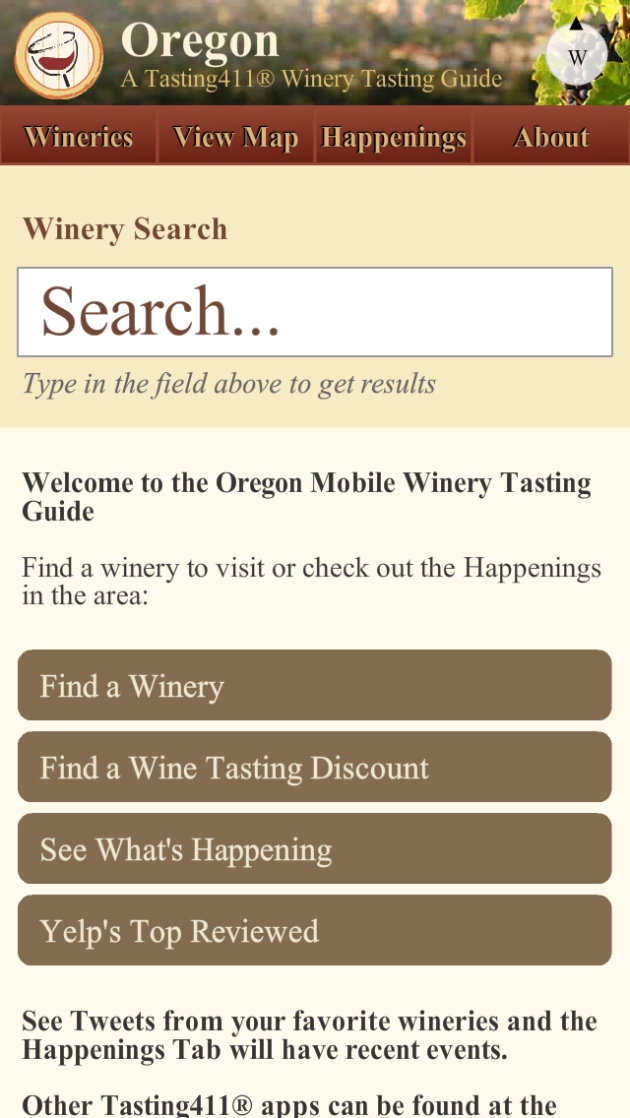 Oregon Wine App