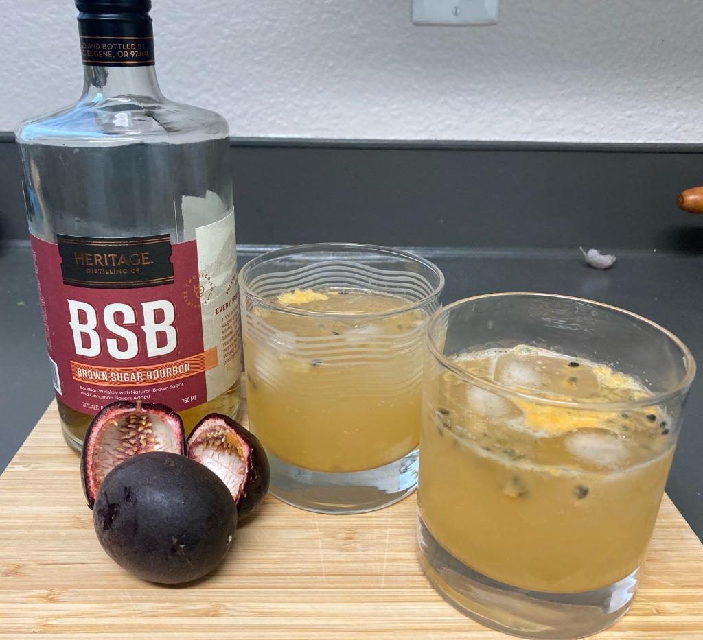 Passion Fruit Bourbon Soda